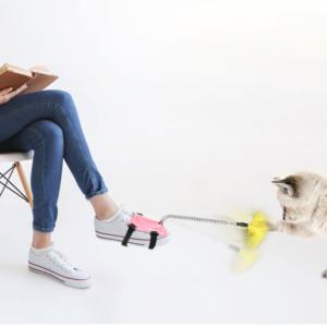 Mačja igrača z nastavkom za noge